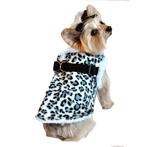 Step In Wrap Dog Coat - Snow Leopard