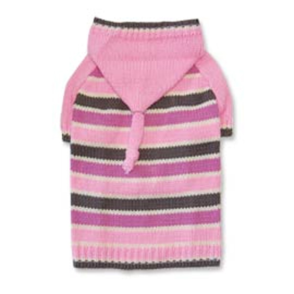 Stripe Hoodie Sweater by Dogo - Pink