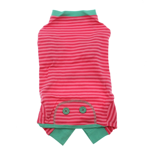 Striped Dog Pajamas - Pink