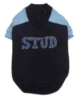 Stud Navy Dog Shirt