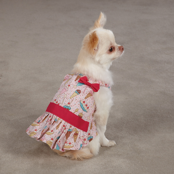 Sundae Dog Sundress by Zack & Zoey - Pink