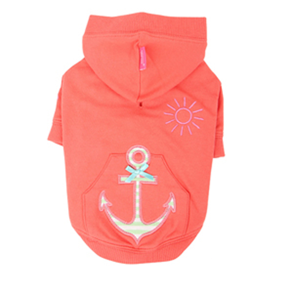Sunny Day Dog Hoodie by Pinkaholic - Orange