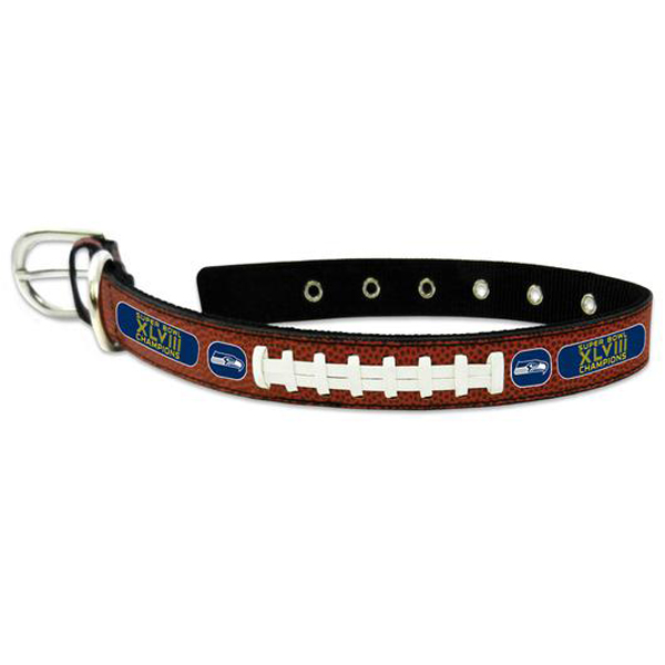 Super Bowl 2014 Champions Classic NFL Seahawks Dog Collar