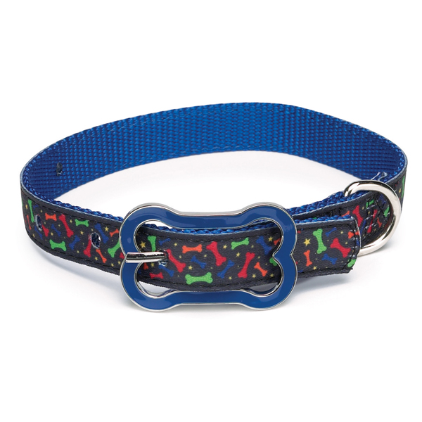 Super Stars & Bones Dog Collar - Blue