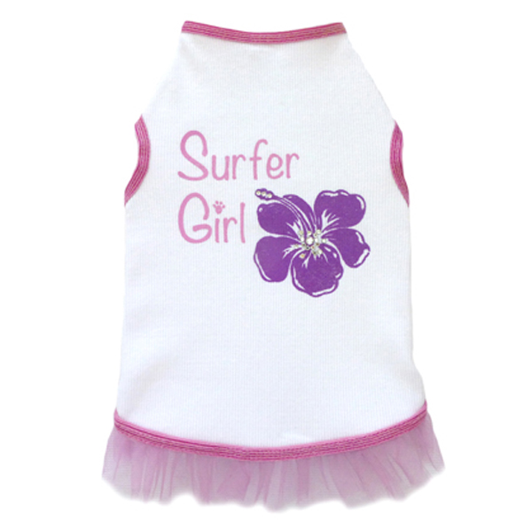 Surfer Hibiscus Girl Dog Tank Dress