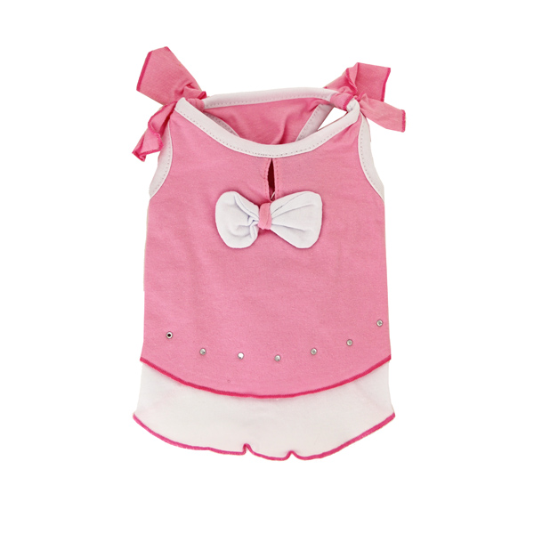 Sweet Bow Tiered Dog Dress by Dogo - Pink