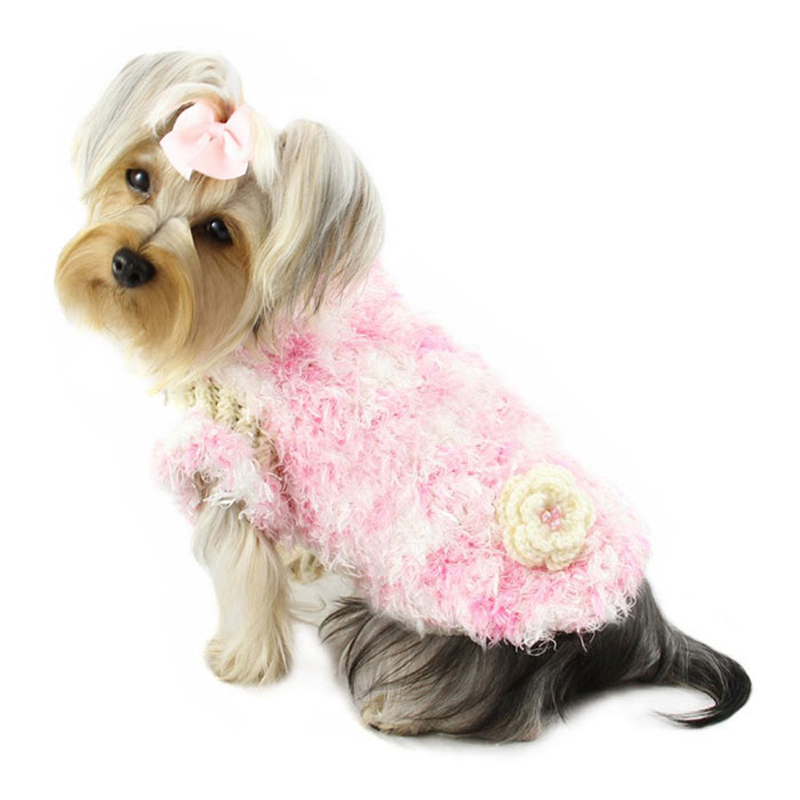Sweet and Fluffy Chenille Turtleneck Dog Sweater by Klippo