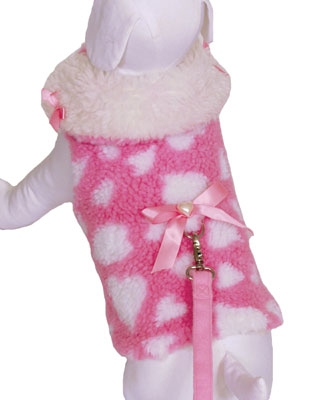 Sweetheart Cuddle Jacket & Leash - Pink