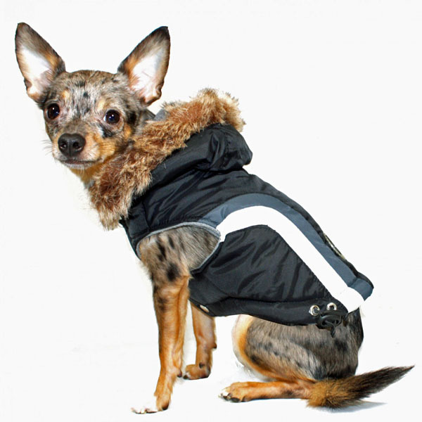 Swiss Alpine Ski Dog Vest by Hip Doggie - Black