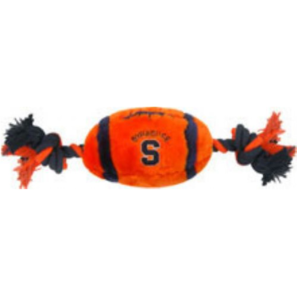 Syracuse Plush Football Dog Toy