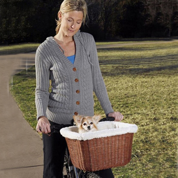 Tagalong Wicker Bicycle Basket for Dogs