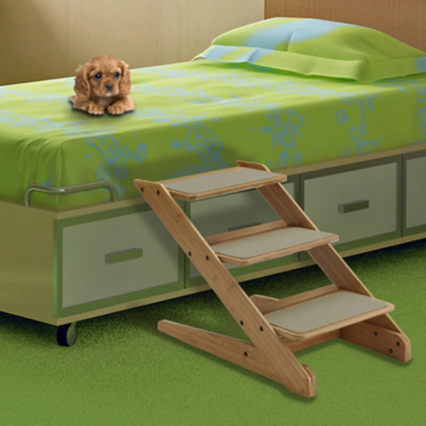 Také 3-Step Wood Pet Stool