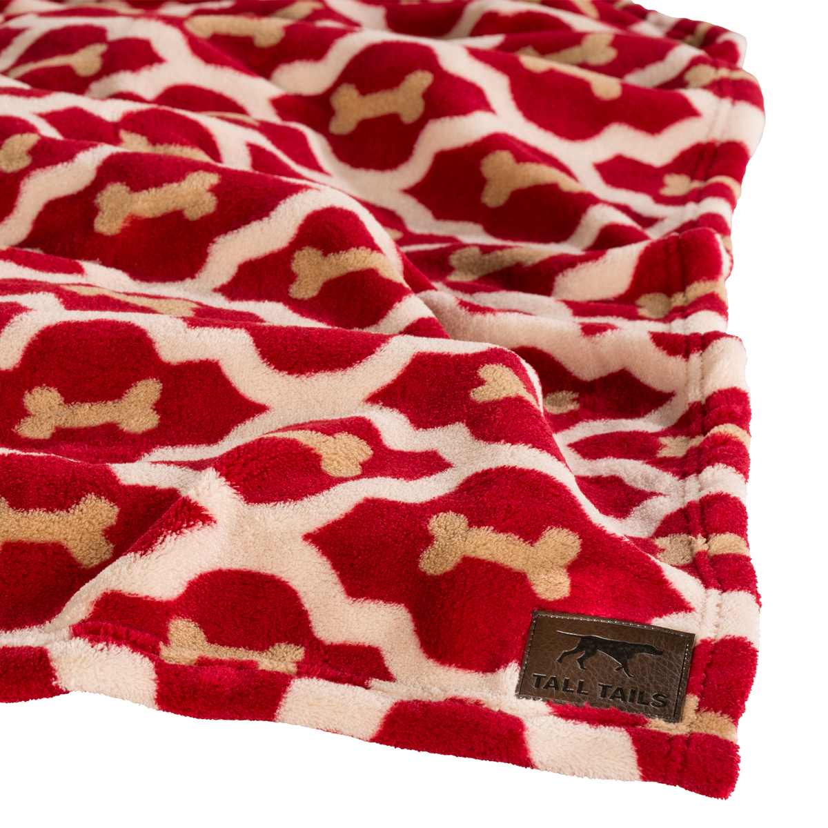 Tall Tails Red Bone Fleece Dog Blanket At Baxterboo