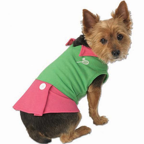 Tasha's Tennis Dress - Green/Pink