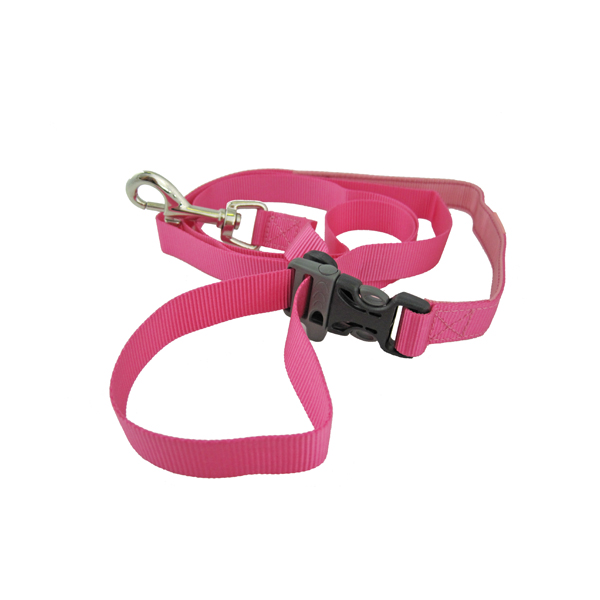Tazlab Slide-Tech Dog Leash - Lover's Leap Pink