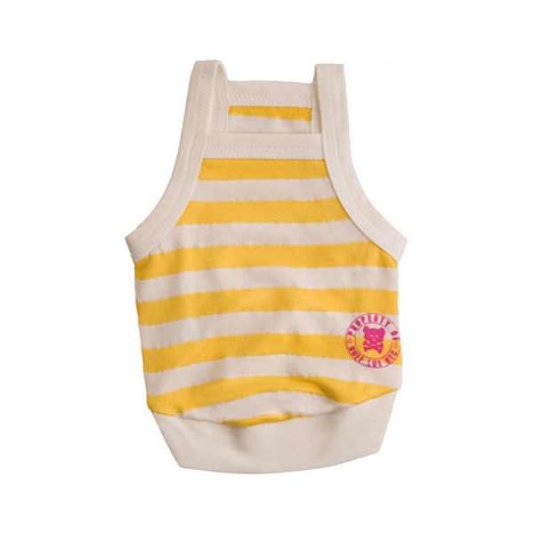 Team Ruffluv Striped Dog Tank Top - Yellow