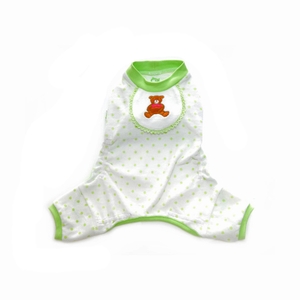 Teddy Bear Dog Pajamas - Green