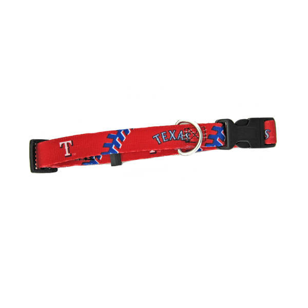 Texas Rangers Baseball Printed Dog Collar
