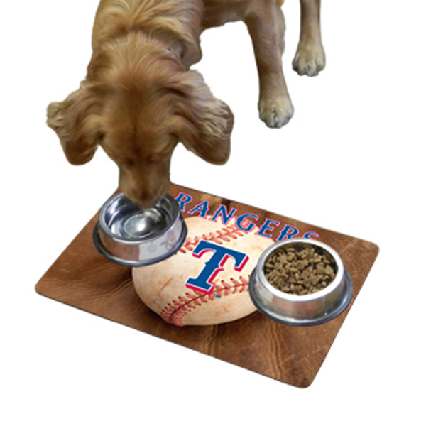 Texas Rangers Pet Bowl Mat
