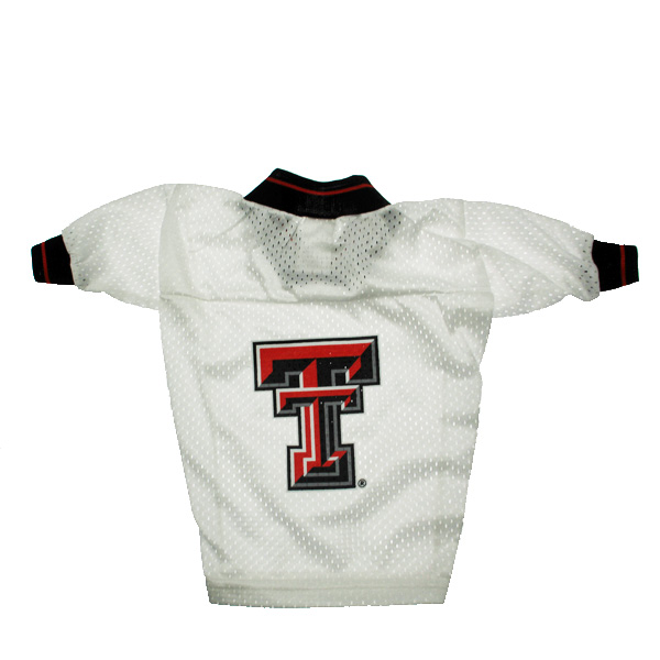 Texas Tech Dog Jersey - White