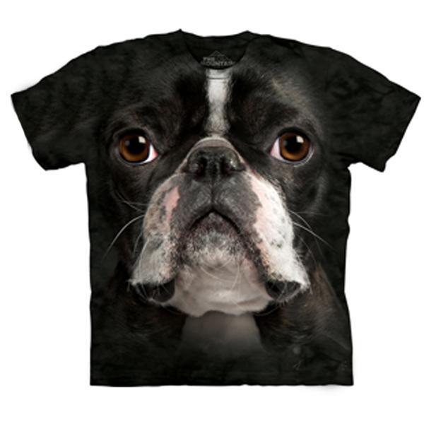 The Mountain Human T-Shirt - Boston Terrier Face