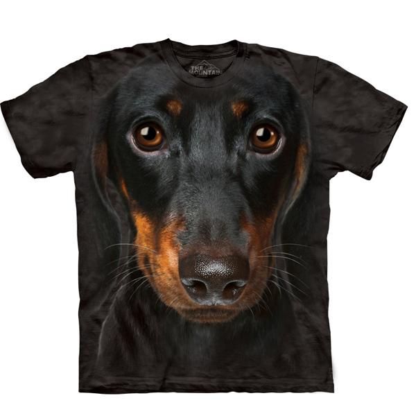 The Mountain Human T-Shirt - Dachshund Head