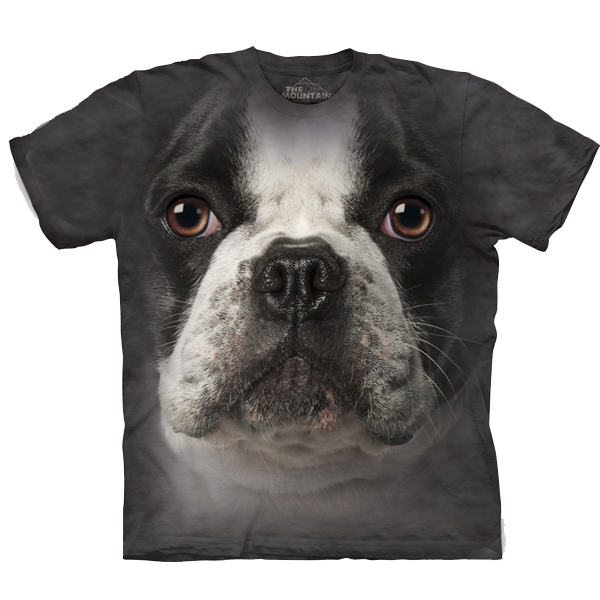 The Mountain Human T-Shirt - French Bulldog Face