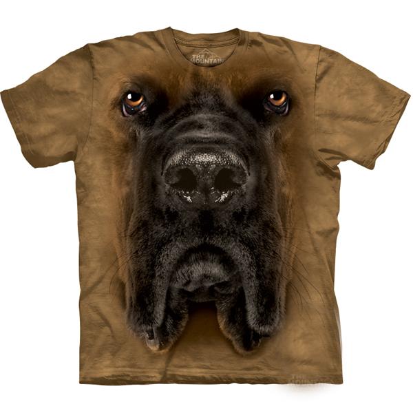 The Mountain Human T-Shirt - Mastiff Face