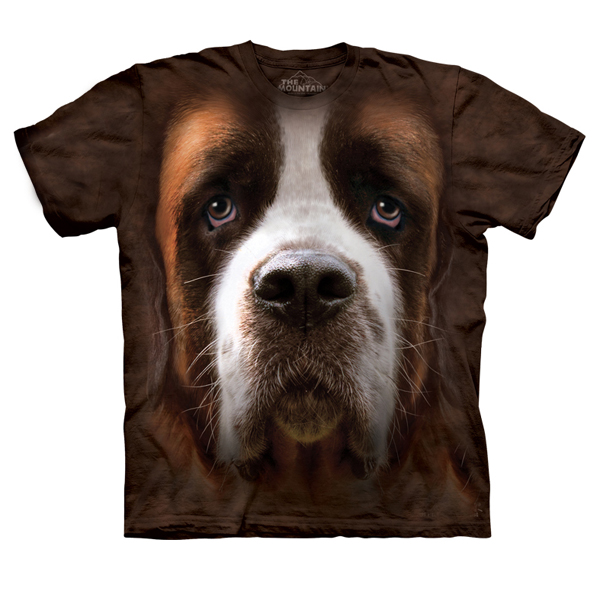The Mountain Human T-Shirt - Saint Bernard Face