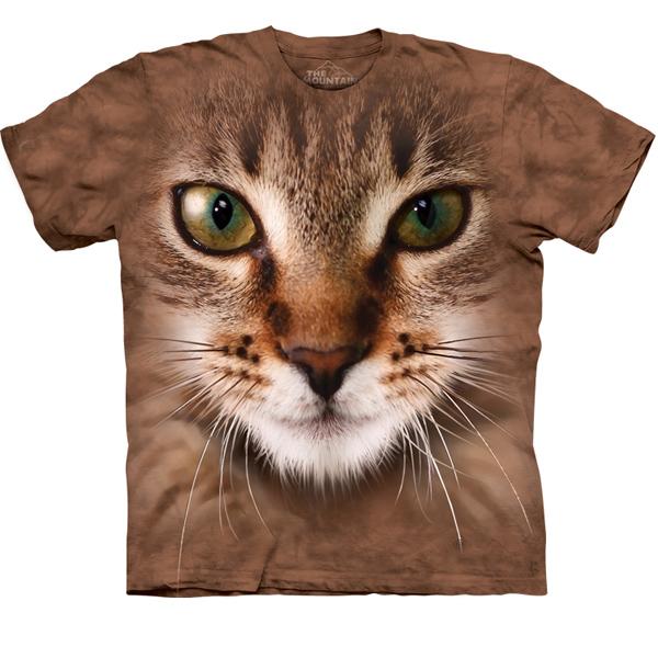Cat Face t Shirts T-shirt Striped Cat Face