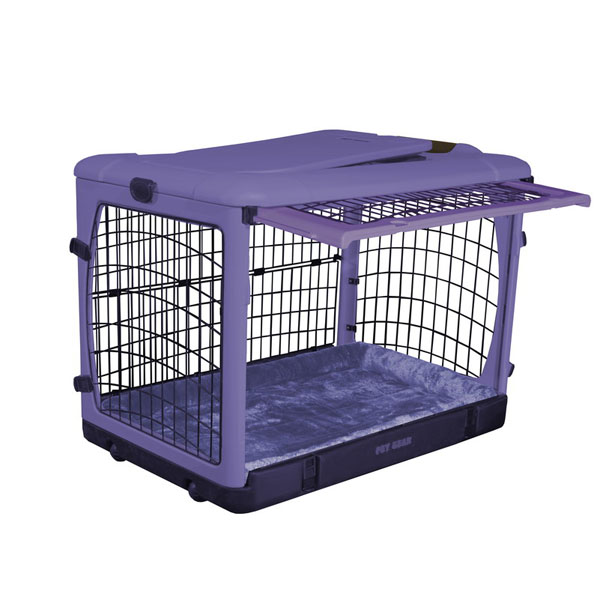 The Other Door Steel Dog Crate Plus - Lavender