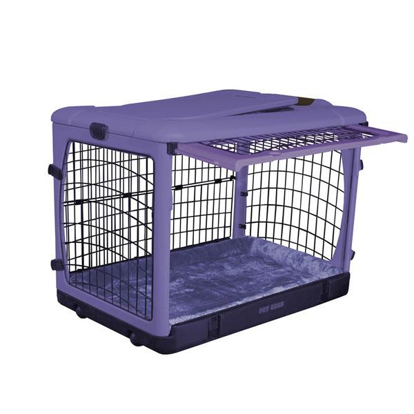 The Other Door Steel Dog Crate Plus - Lavender