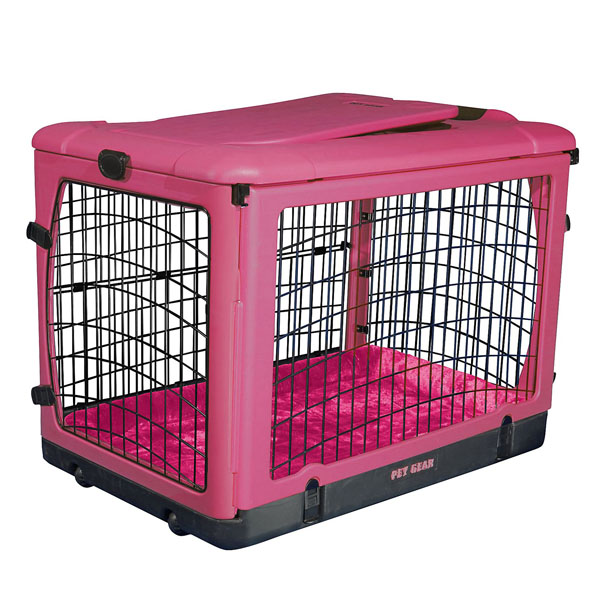 The Other Door Steel Dog Crate Plus - Pink | BaxterBoo - photo#24