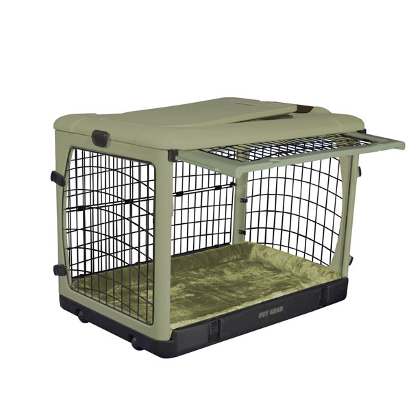 The Other Door Steel Dog Crate Plus - Sage
