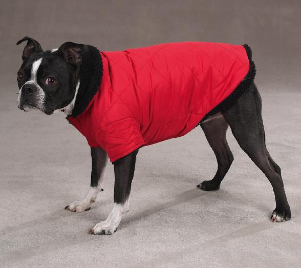Thermal Lined Dog Jacket - Red