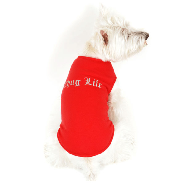 Thug Life Dog Tank Top - Red