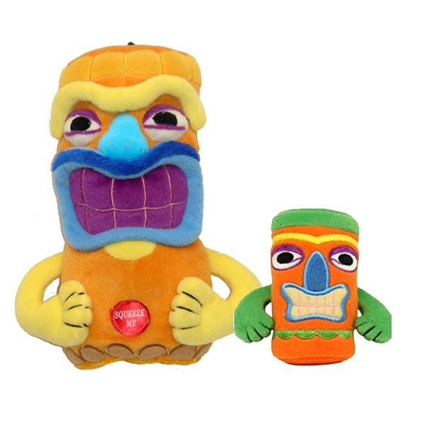 Tiki Dog Toy - Orange