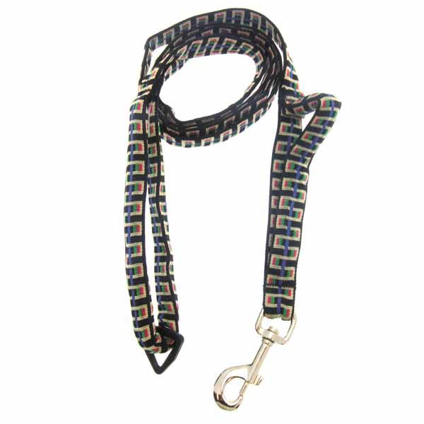 Traffic Control Dog Leash - Black Stairs