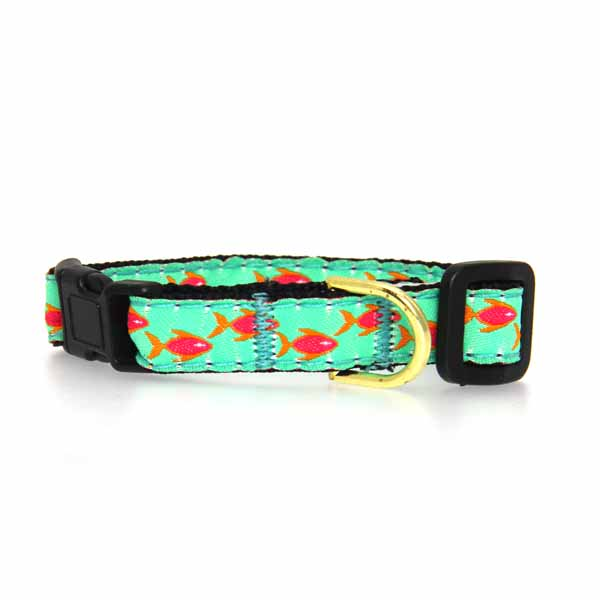 Tropical Fish Cat Collar by Up Country