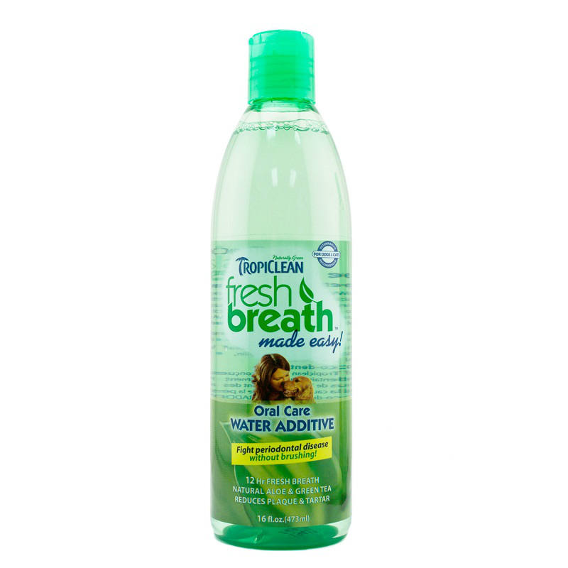 Tropiclean fresh breath pet water additive at baxterboo for Dog dental water additive