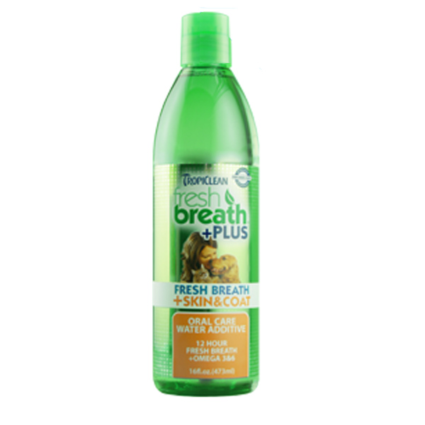 Tropiclean Fresh Breath Pet Water Additive Plus - Skin & Coat