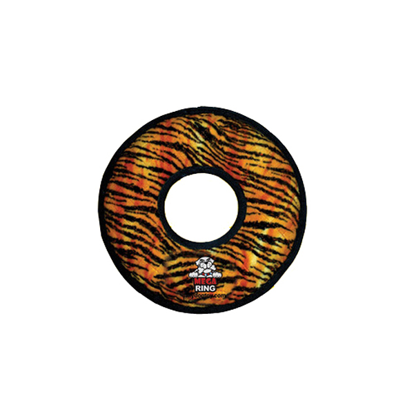 Tuffy Dog Toys - Mega Ring Tiger Print