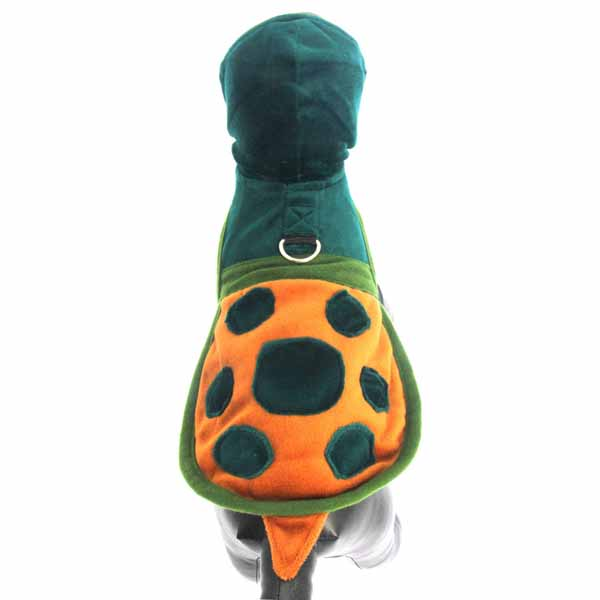 Turtle Hoodie Dog Harness Costume