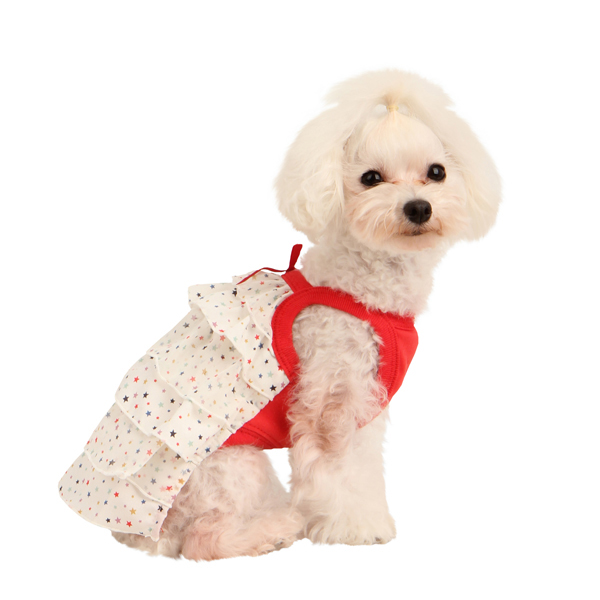 Twinkly Sleeveless Dog Dress by Puppia - Ivory