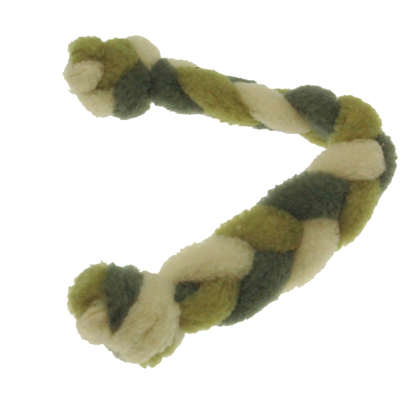 Twist Braided Dog Tug Toy - Green/Gray