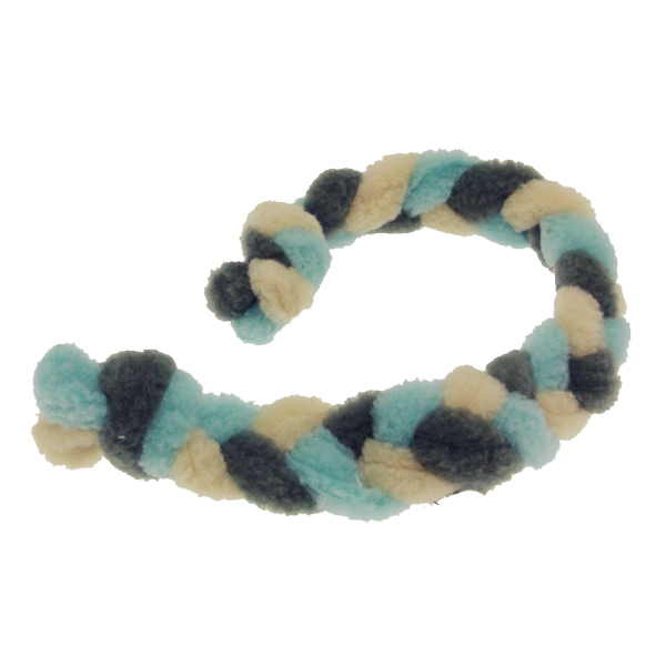 Twist Braided Dog Tug Toy - Blue/Gray