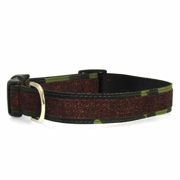 Urban Chic Glitter Dog Collar - Camo