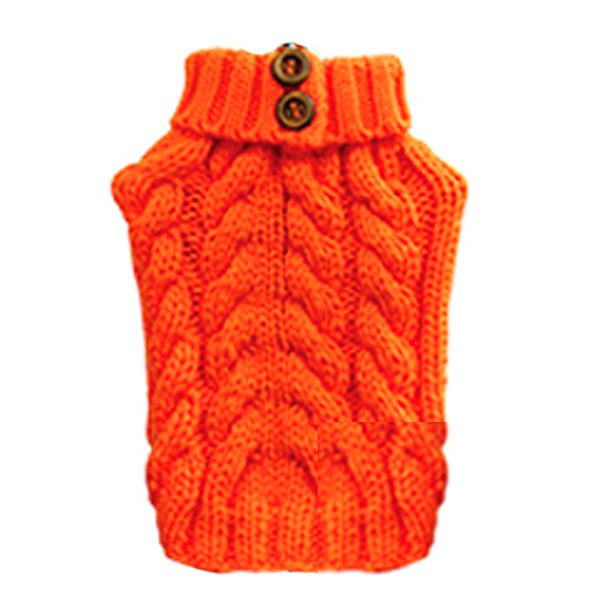 Urban Knit Dog Sweater - Orange