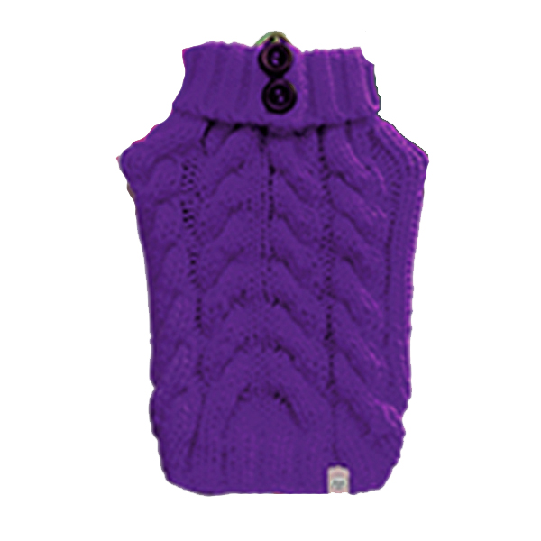 Urban Knit Dog Sweater - Purple