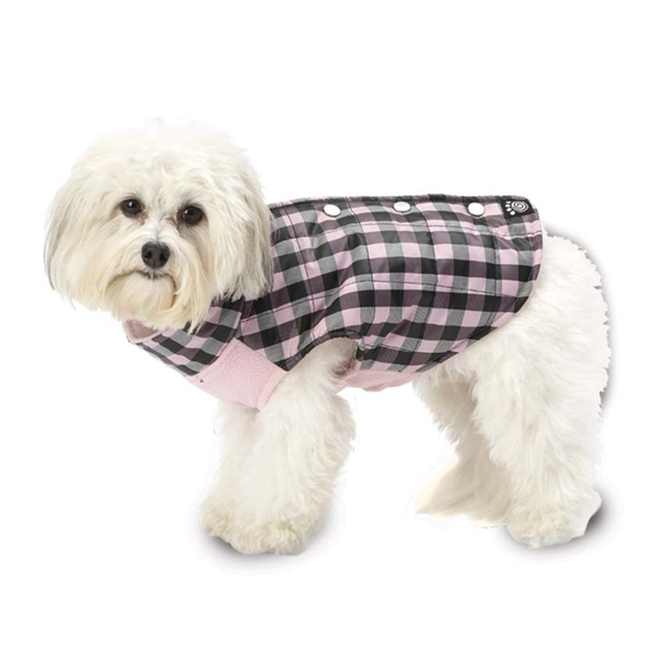 Vail Checkered Dog Vest - Pink